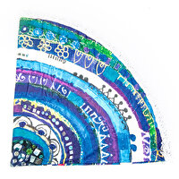 "Picture of BiggDesign ""Evil Eye"" Patterned Round Beach Towel"