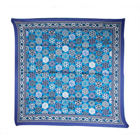 Picture of BiggDesign Ottoman patterned Silk-Satin Scarf - Blue