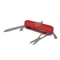 Picture of BiggOutdoor Multifunction Pocket Knife with Compass - Red