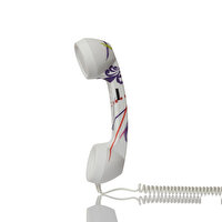 Picture of BiggPhone Retro Phone Handset Patterned Purple
