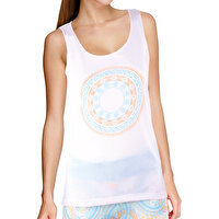 Picture of BiggYoga Chakra Women Tank Top - White
