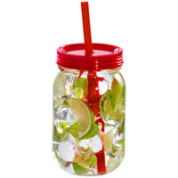 Picture of Boomug Jar Glass With Straw