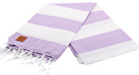 Picture of Gold Case Basic Group 100% Cotton Multi-Purpose Peshtemal Towel - Loincloth - Hades Lilac-White