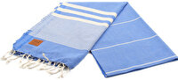 Picture of Gold Case Basic Group 100% Cotton Multi-Purpose Peshtemal Towel - Loincloth - Hera Blue