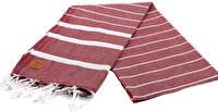 Picture of Gold Case Basic Group 100% Cotton Multi-Purpose Peshtemal Towel - Loincloth - Lara Claret Red