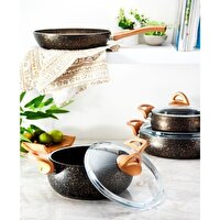 Picture of Hisar Assos Multi Granit Gold 7 Piece Cookware Set
