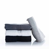 Picture of Hobby Rainbow Hand Towel 4 Pieces Black