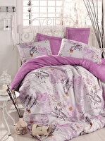 Picture of Mary Case Ranforce 100% Cotton Twin Size Duvet Set - Helen Purple