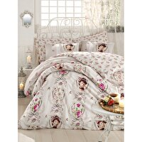 Picture of Mary Case Ranforce 100% Cotton Twin Size Duvet Set - Karen Pink