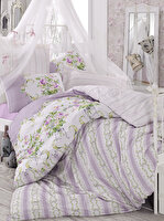 Picture of Mary Case Ranforce 100% Cotton Twin Size Duvet Set - Loure Lilac