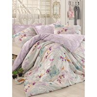Picture of Mary Case Ranforce 100% Cotton Twin Size Duvet Set - Molly Purple