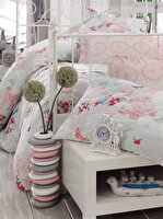 Picture of Mary Case Ranforce 100% Cotton Twin Size Duvet Set - Molly Pink