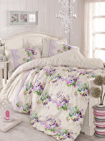 Picture of Mary Case Ranforce 100% Cotton Twin Size Duvet Set - Sarah Lilac