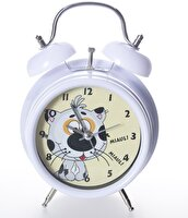 Picture of  XOOM Eg7003cpdca Alarm Table Clock Catty White