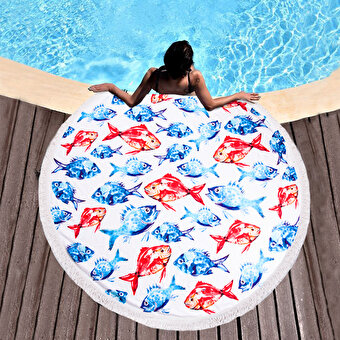 Biggdesign AnemosS Aquarium Round Beach Towel