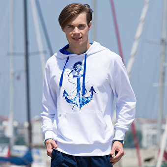 BiggDesignAnemoSS Anchor Men's Sweatshirt