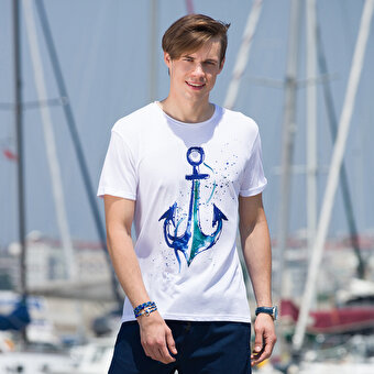 BiggDesignAnemoSS Anchor Men's T-Shirt