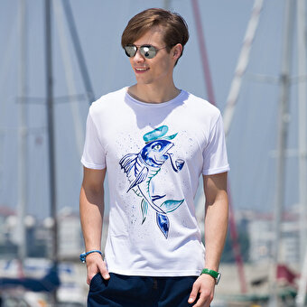 BiggDesignAnemoSS Captain Fish Men's T-Shirt