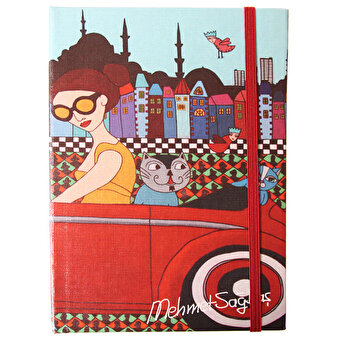 BiggDesign Girl in Car Note Book 14x20