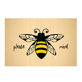 BiggDesign Bee Wooden PostCard