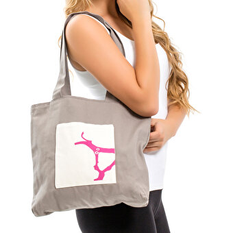BiggDesign B.C. 3000 Deer Grey Patterned Bag