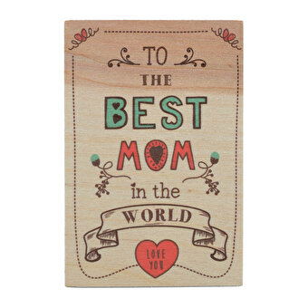 BiggDesign Best Mom Wooden Postcard