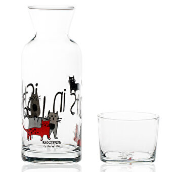 BiggDesign Glass Pitchers Cats in Istanbul