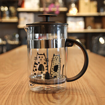 Biggdesign Cats in İstanbul French Press 800 Ml by Zeynep Pak