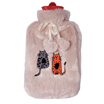 BiggDesign Cats in Istanbul Plush Covered Hot Water Bottle