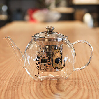 Biggdesign Cats in İstanbul Strainer Teapot 600ML