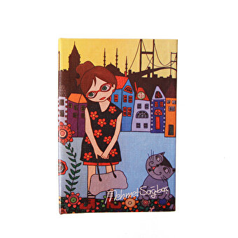 BiggDesign Floral Girl Note Book 9x14
