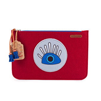 Biggdesign My Eyes are on You Zippered Felt Bag