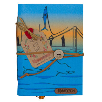 BiggDesign Istanbul Fishermen Felt Note Book