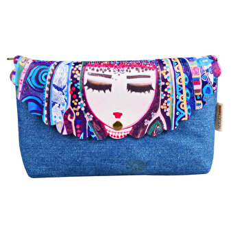 BiggDesignMavi Su Denim Make Up Bag