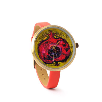 BiggDesignPomegranate Leather Wrist Watch