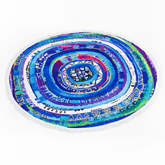 BiggDesign Evil Eye Round Beach Towel
