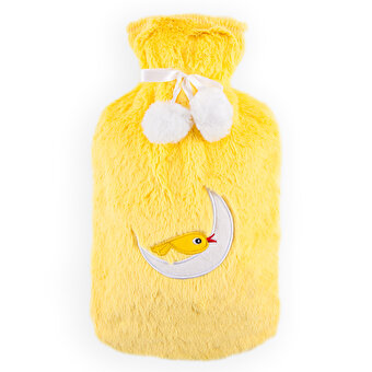 Biggdesign Owl and City Shag Cover Hot Water Bottle