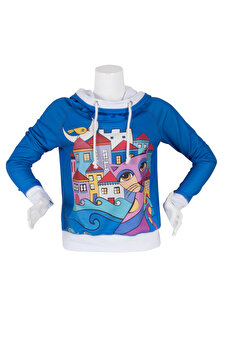 Biggdesign Owl And City Sweatshirt