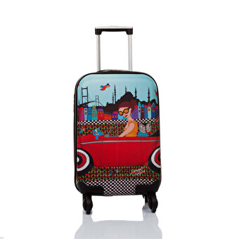 "BiggDesign BGDT0922D05 Canvas Luggage 18 ""Trolley Girl Mehmet Sağbaş"