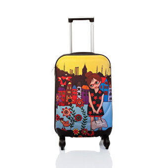 "BiggDesign BGDT0922D04 Canvas Luggage 18 ""Mehmet Sağbaş Flower Girl"