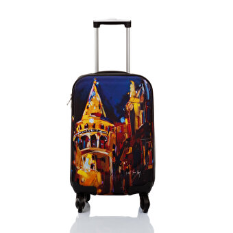 "BiggDesign BGDT0922D02 Canvas Luggage 18 "" Bulent Yavuz Yilmaz Galata"