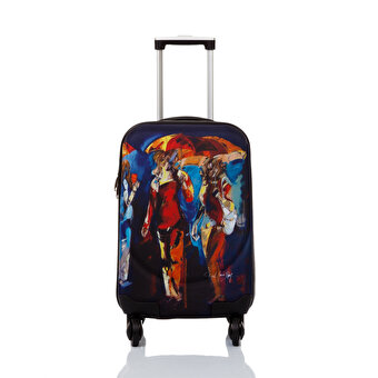 "BiggDesign BGDT0922D03 Canvas Luggage 18 "" Bulent Yavuz Yilmaz Umbrellas"
