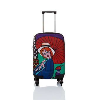 "BiggDesign BGDT0922D01 Canvas Luggage 18 ""Mehmet Sağbaş Umbrella Girl"