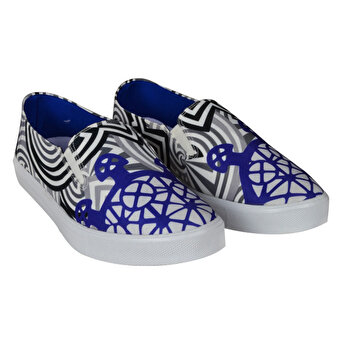 BiggDesign Sun Disk Blue Slipper Shoes 36
