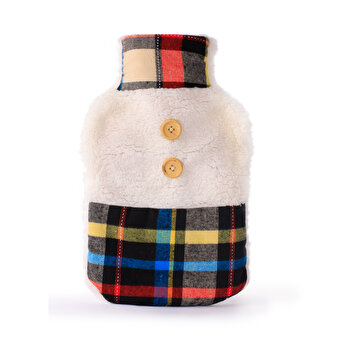 BIGGHOME Burgundy plaid Hot Water Bottle