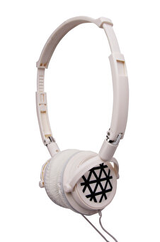 BIGGSOUND White Headphones