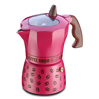 GAT Moka Coffee Maker 6 persons Shower Pink