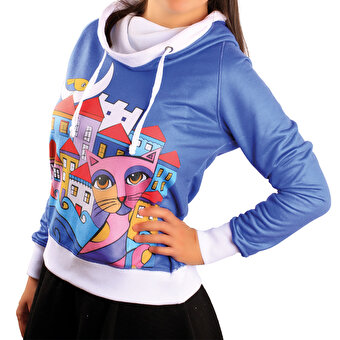 Resim     Biggdesign Owl And City Sweatshirt