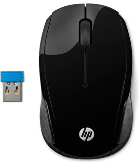 Resim  HP 200 Black Wireless Mouse /X6W31AA