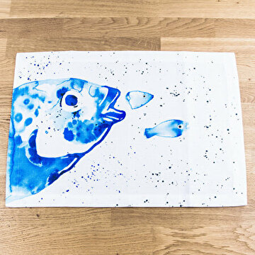 Picture of BiggDesign AnemosS - Place Mats - Sea Bream Patterned - 2 Pieces - Blue
